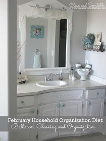 Clean & Scentsible: Quick and Easy Bathroom Cleaning Tips {The Household Organization Diet}