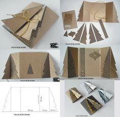 44 Ideas Diy Paper Folding Xmas Trees For 2019 Diy Paper Christmas Tree, Homemade Christmas Cards, Christmas Deco, Homemade Cards, Handmade Christmas, Xmas Trees, Tarjetas Diy, Shaped Cards, Paper Folding