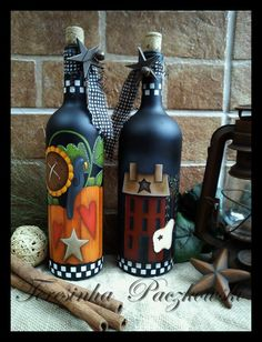 garrafas decoradas teresinha paczkowski