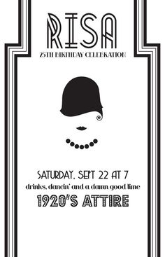 DIY 1920s Theme Party Invite by stellajenn on Etsy, $25.00