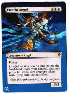 MTG Altered Painted Emeria Angel Zendikar FREE SHIPPING http://cgi.ebay.com/ws/eBayISAPI.dll?ViewItem&item=350926417423