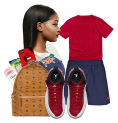 """School Tuesday 💯"" by shamyadanyel ❤ liked on Polyvore featuring Polo Ralph Lauren, Ralph Lauren, MCM and NIKE"