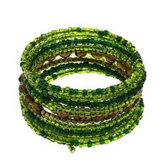 Wrap Around Green Bead String Costume Bracelet Fashion Jewelry Indian ShalinIndia. $17.14. Made in India.. No nickel, lead or cadmium. Artisan crafted in India. Single long string. Resin and metal beads