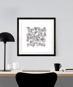 """Printable download - Abstract wall art, modern wall art, Black and white print, Minimalist wall art, Home decor idea, Great gift idea - Title: """"Crowded Street"""", graphic art by Luberlu Design"""