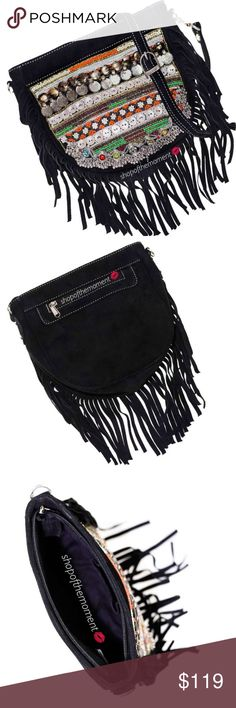 """🏹🆕 Vintage Inspo ❖ Fringe Festival Crossbody Bag Vintage Inspired ❖  Fringe Festival Crossbody Bag ❖  Brand New with Tags in Manufacturer's Packaging  🏹🏹🏹🏹🏹🏹🏹🏹🏹🏹🏹🏹  A vintage inspired suede bag with fringe trim is your new favorite festival companion! Beaded detail. Detachable adjustable shoulder strap for crossbody action or date night clutch option. Cèst magnifique!   Approximate Measurements: 13"""" H x 10"""" W x 4"""" D Strap Drop: 20""""   🏹🏹🏹🏹🏹🏹🏹🏹🏹🏹🏹🏹  ✗ Drama ✗ Trades…"""