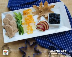 Cookie cutters aren't just for cookies! Use your favorite seasonal shapes to create #healthy, festive snacks. #MyPlate #FoodFun