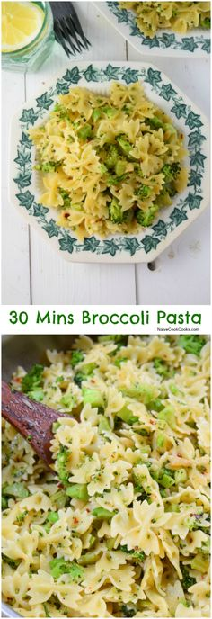 30 Min Broccoli Pasta (Pasta-e-broccoli) (Simple & delicious 30 Min crispy broccoli pasta is packed with tons of flavors and requires only few simple ingredients. Dinner has never been easier!) NaiveCookCooks.com