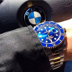 BMWRolex #rolex#rolexero#rolexblog#lovewatches#rolexcollectors#watches#wwatches#watchporn#wristporn#wristshot#watchoftheday#rolexwrist#fashion#style#luxury#luxurytimepieces#swissmade#dailywatches#bmw#blue#gold#sub#submariner#car#cars#sun#sunburst#dapper#fun by swisswatchambassador #rolex #submariner