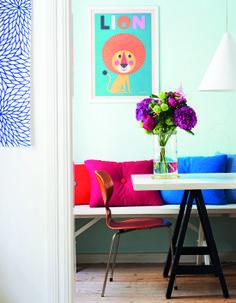 Colores vibrantes, la alegría del hogar