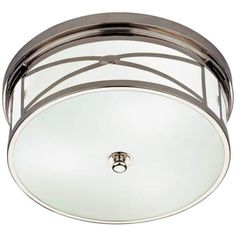 "Robert Abbey Chase Brass 15"" Wide Flushmount Ceiling Light - #K1146 