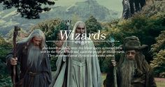 Races of Middle-earth: Wizards