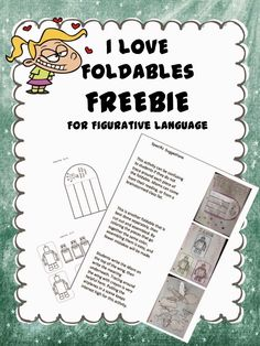 I don't know about you, but I am a foldable junkie! I love them because they really engage students and hook those visual and physical learners! Crayons, scissors, art…what's not to like?? This freebie includes three figurative language foldables plus directions. It includes 9 pages in google.drive.