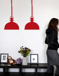Light up your wall with some color. Designed by Mina Javid for BLIK wall decals, Warehouse Pendant is industrial strength graphic design. Nursery Furniture, Furniture Decor, Wall Stickers, Wall Decals, Wall Art, Teen Room Makeover, Guest Room Office, Beautiful Wall, Home