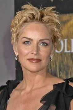 28 Best Sharon Stone Images Hairstyles Sharon Stone Short Hair