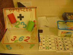 Kleutertelmachine (gemaakt van een schoendoos) Monopoly, Games, Gaming, Toys, Game, Spelling