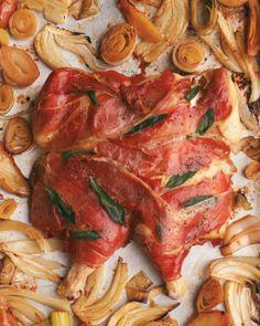 Prosciutto-Wrapped Chicken with Fennel - Martha Stewart