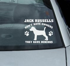 Jack Russell Terrier Minions Decal
