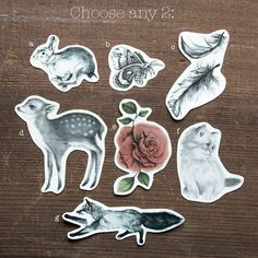 Temporary Tattoos: Choose any two on Etsy, $10.00