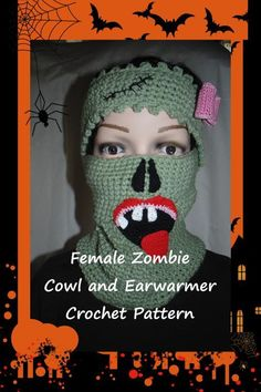 Looking for your next project? You're going to love Female Zombie Cowl and Earwarmers by designer Sharon Santorum.