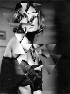 portrait - geometric - photoshop - digital - black and white Photography Editing, Photography Projects, Creative Photography, Editorial Photography, Portrait Photography, Fashion Photography, Geometric Photography, Triangle Art, Photoshop