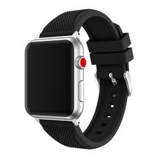 For Apple IWatch Sports Band Soft Fashion Silicone Replacement Sport Band Strap Wristwatch For Apple Watch Series 3 42MM (black). Band Material:Silicone. Easy to adjust the length to fit your wrist;All mesh bracelets passed Pulling Force Test. Contracted design style, with you life contracted and not simple. More soft and comfortable. Models for selection:For Apple Watch Series 3 42MM.