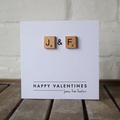 I've just found Personalised Scrabble Love Letter Card. A Unique Personalised Valentines Card with two scrabble wooden tiles with your own initals. Scrabble Cards, Scrabble Tile Crafts, Scrabble Frame, Valentines Art, Valentine Day Cards, Happy Birthday Cards, Birthday Parties, Diy Engagement Cards, Love Cards