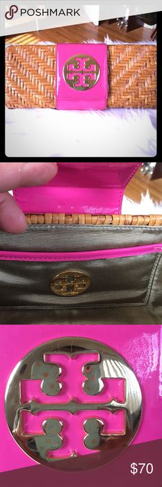 Tory Burch clutch wicker Very good condition!!! Tory Burch Bags Clutches & Wristlets