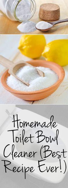 Homemade Toilet Bowl Cleaner (Best Recipe Ever!)