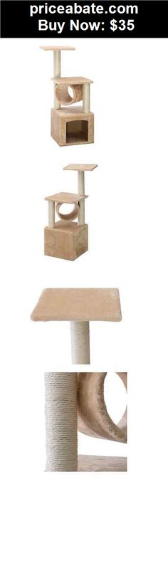 """Animals-Cats: Deluxe 36"""" Cat Tree Condo Furniture Play Toy Scratch Post Kitten Pet House Beige - BUY IT NOW ONLY $35"""