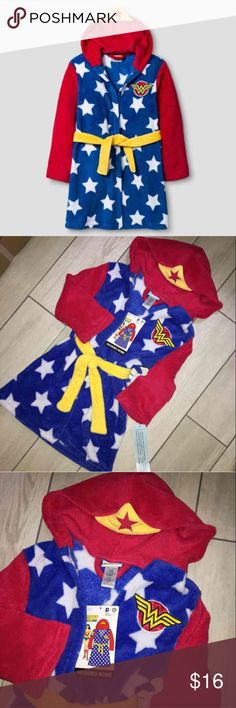 NWT Wonder Woman Plush Robe Brand new with tags! XS 4/5), S (6), M (7/8), L (9/10) DC Comics Pajamas Robes
