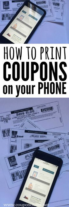 How to Print Printable Coupons from Phone - now you can print from your computer and your phone for more coupons!