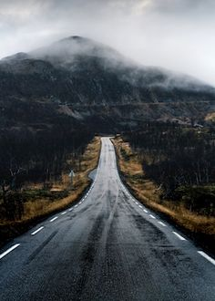 Amazing road between Sweden and Norway, it's dark and mystical. Photographer Mikael Karlsson, availaible as poster at printler.com, the marketplace for photo art.