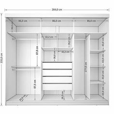 Roupeiro 3 Portas de Correr Juliana III 4 Gavetas Branco - Móveis Bechara Wardrobe, com. Wardrobe Room, Wardrobe Design Bedroom, Master Bedroom Closet, Wardrobe Storage, Diy Bedroom, Closet Wall, Wall Of Closets, Wardrobes For Bedrooms, Diy Closet Shelves