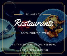 Tus clientes te buscan en su móvil ¿está la web de tu restaurante preparada? www.activatupyme.com/web-movil #web #movil #activatupyme
