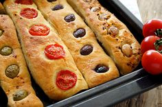 Kitchen Stories: No Knead Baguette Small Tomatoes, Cherry Tomatoes, Leek Pie, Syrup Cake, Baguette Recipe, Kitchen Stories, Soda Bread, Greek Recipes, Tray Bakes