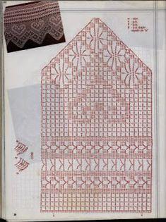 Barrado de croche largo geométrico | Bicos de Croche