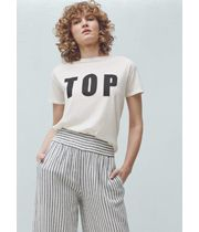 Cotton and modal mix Rounded neck Short sleeve Message printed on the front Mango Online, Mango Clothing, T Shirts For Women, Clothes For Women, Online Shopping Stores, International Brands, Street Style, Fashion Outfits, Mango Store