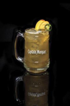 Try our Peach Rum Mule drink with spiced rum, jalapeno, lime juice, peach nectar, and ginger ale. Check out more Captain Morgan™ rum drink recipes.
