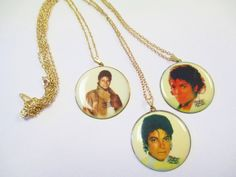 Vintage 80's Michael Jackson Necklace DEADSTOCK by SHOPHULLABALOO on Etsy https://www.etsy.com/listing/92378711/vintage-80s-michael-jackson-necklace