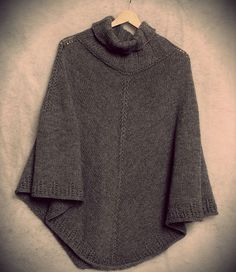 knitted poncho free knitting pattern