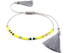Boho Jewelry Black Boho Beaded Bracelet Bohemian by ToccoDiLustro