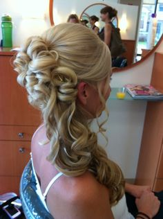 Side updo - another potential for bridesmaids?