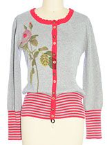 Winter Rose Cardigan Sweater at PLASTICLAND    $68+ shipping