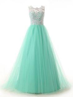 Resultado de imagen para ver vestidos de 15 años color verde agua