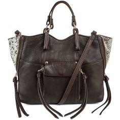 35e8654d85 Kooba Everette Mixed-Leather Mini-Crossbody Bag ( 248) ❤ liked on Polyvore