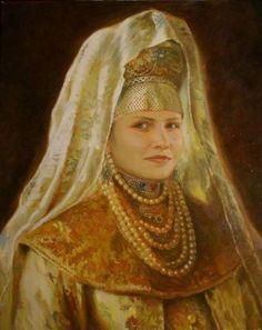 Емельянов Евгений (Ross) Портрет девушки в образе боярышни