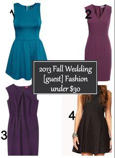 7353dea7a3e 2013 Fall Wedding  guest  Fashion under  30