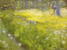 The Athenaeum - Marie Kroyer in the Garden ar Skagen (Peder Severin Kroyer - )
