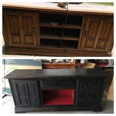 Old dresser refurbished into tv stand! #diy #repurpose