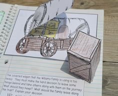 Literacy & Math Ideas: Westward Expansion and the Pioneers Interactive Notebook